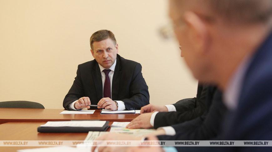 Лавринович провел прием граждан на Белорусской АЭС
