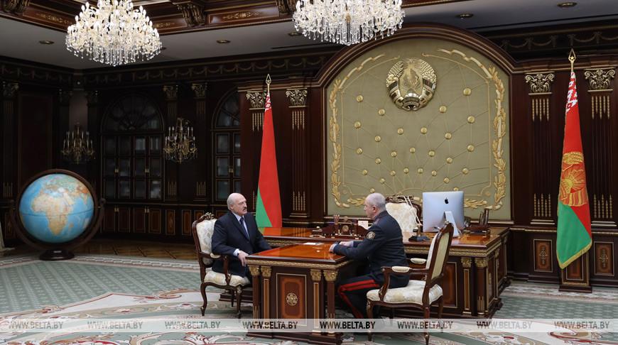 Лукашенко принял с докладом министра внутренних дел Беларуси
