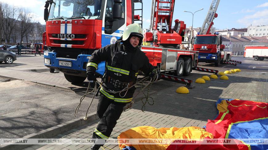 Тактико-специальные учения МЧС прошли в Минске