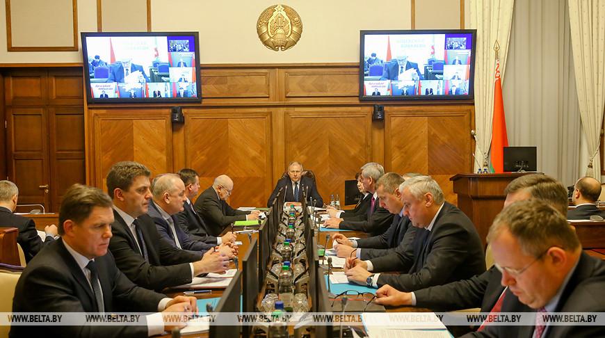 Румас провел заседание Президиума Совмина