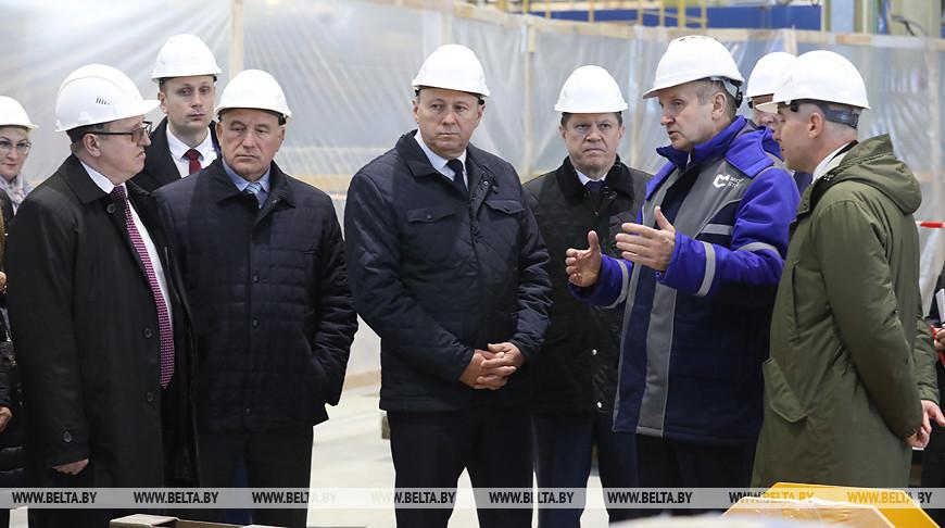 Румас ознакомился с ходом строительства завода по производству металлического листа и белой жести
