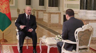 """Лукашенко дал интервью телерадиокомпании """"Мир"""""""