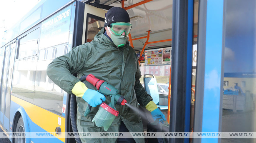 Троллейбусы в Гродно ежедневно обрабатывают дезинфицирующими средствами
