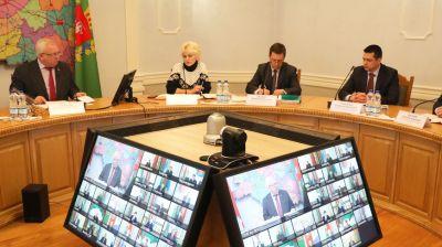 Заседание областного штаба по борьбе с распространением коронавируса в режиме видеоконференции прошло в Витебске