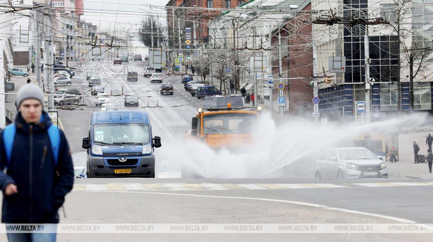 Дезинфекция улиц проводится в Витебске