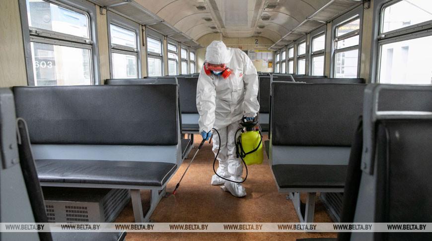 Дезинфекция вагонов пригородного сообщения проводится в Витебске