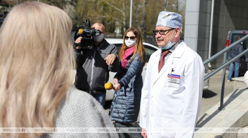 Представительницы БСЖ поддержали медиков