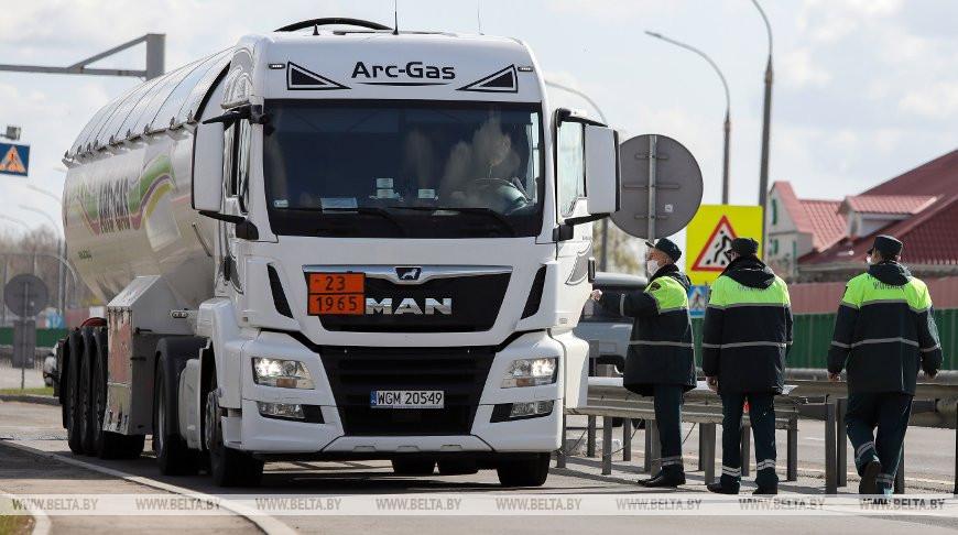 На белорусских дорогах усилен контроль за транзитными перевозчиками