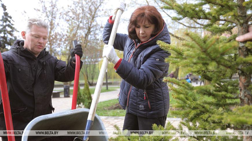Председатель Совета Республики Наталья Кочанова приняла участие в субботнике