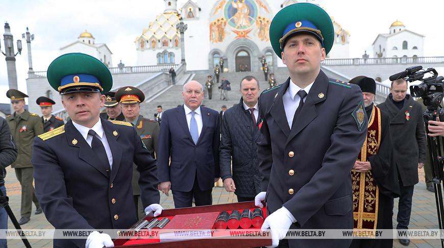 Капсулы с землей с мест боев на территории Беларуси переданы российской стороне