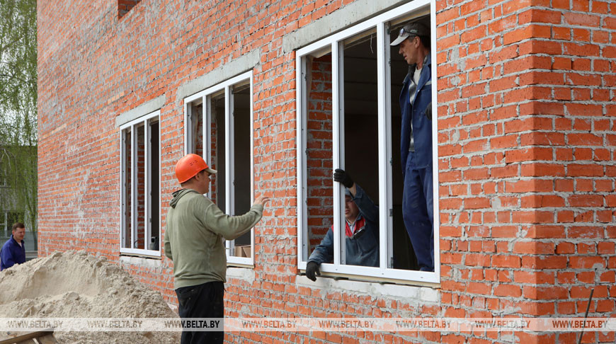 Строительство нового здания Литвиновичской школы в Кормянском районе планируют завершить к 1 сентября