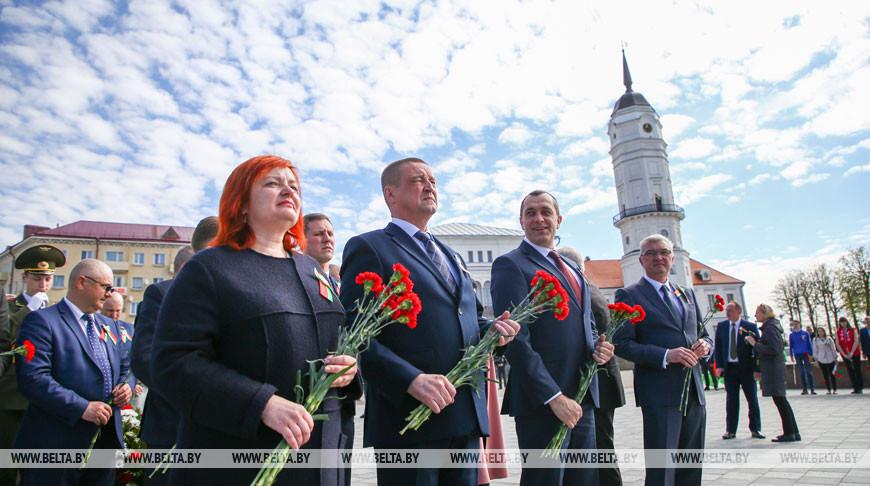 Цветы к Вечному огню возложили в Могилеве