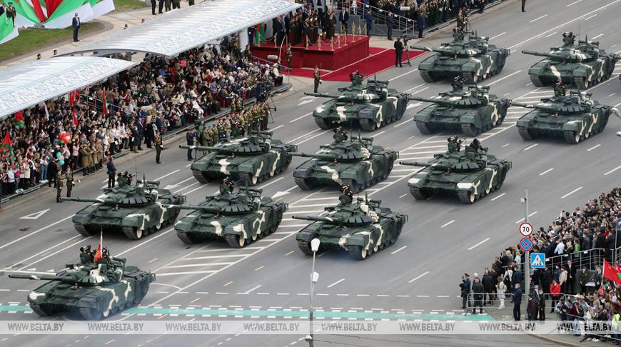 Парад ко Дню Победы прошел в Минске