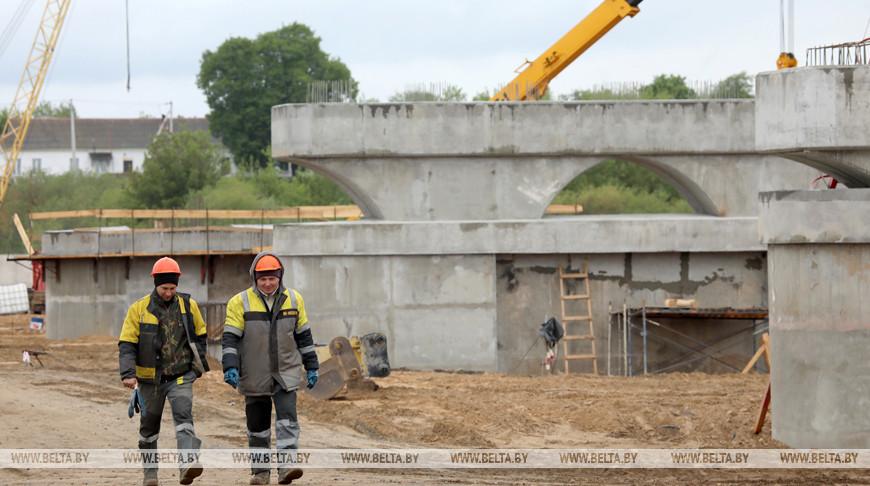 В Рогачеве начали строить новый автомобильный мост через Днепр