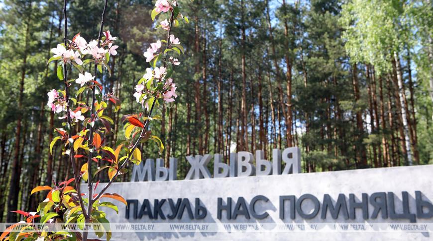 Мемориал на месте сожженной деревни Ола
