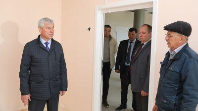 Андрейченко ознакомился с ходом реконструкции детской школы искусств в Ушачах