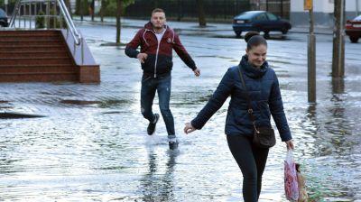 Сильный дождь прошел в Могилеве