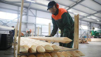 Белыничский лесхоз планирует увеличить выпуск оцилиндрованных изделий