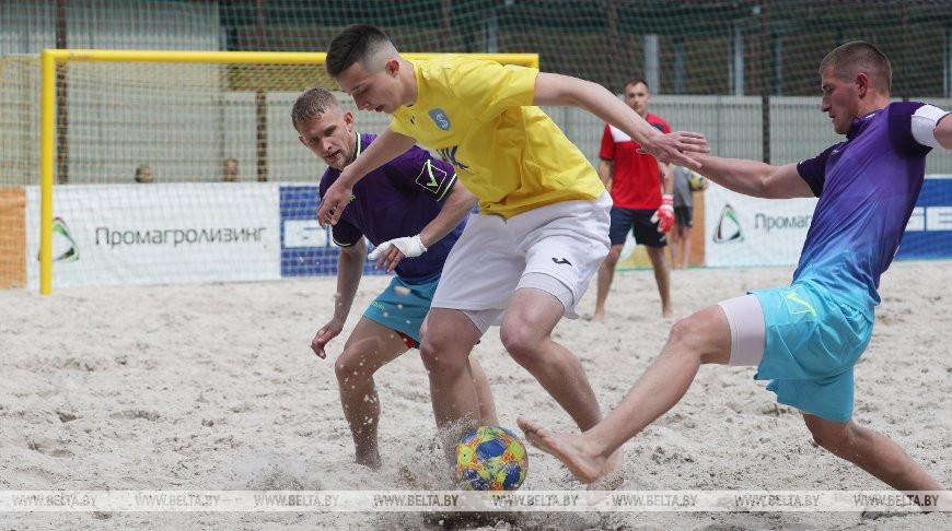 В Гродно прошел второй тур XIII чемпионата Беларуси по пляжному футболу