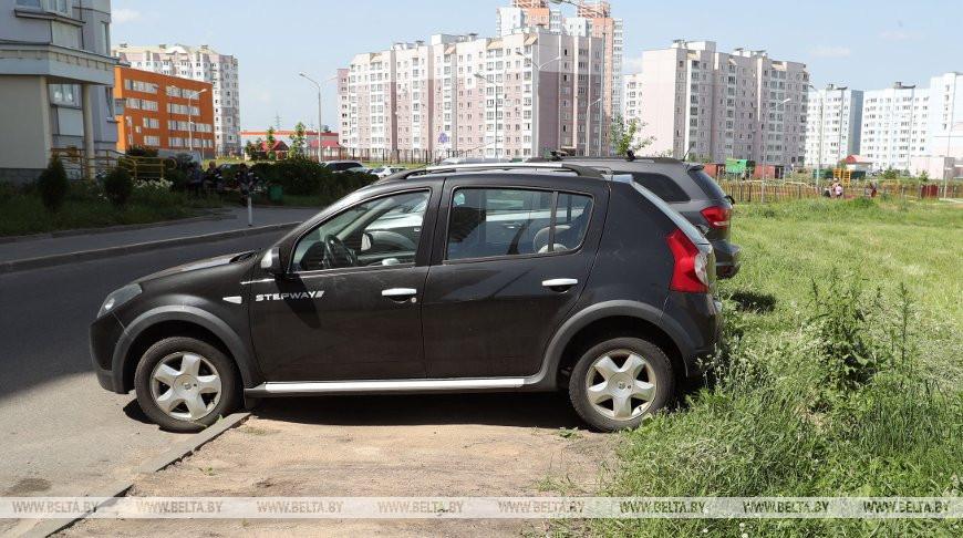 В Минске проверили соблюдение правил парковки во дворах
