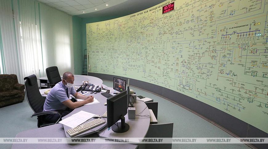 Сергеенко ознакомился с работой Молодечненских электрических сетей