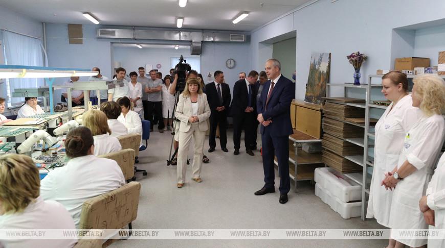 """Сергеенко посетил ОАО """"ЭНЭФ"""" в Молодечно"""