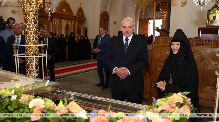 Лукашенко посетил Спасо-Евфросиниевский монастырь в Полоцке