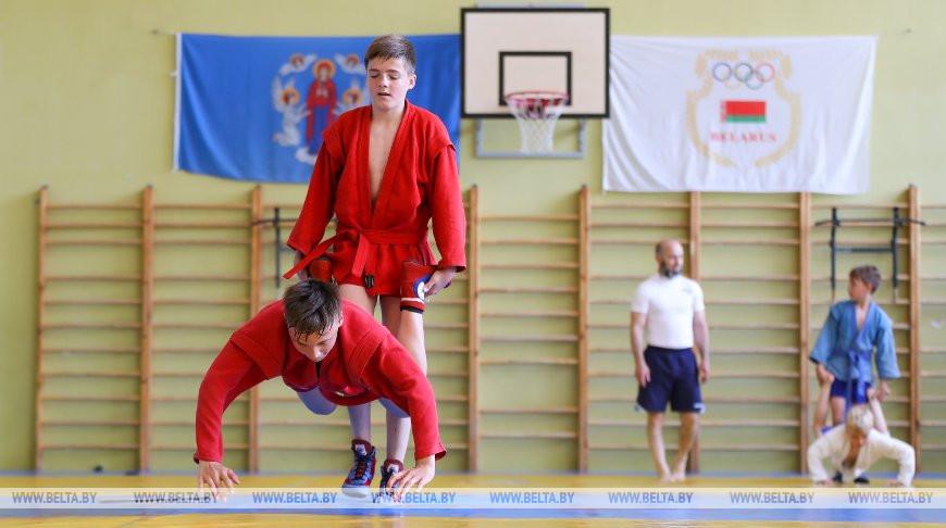 Детский лагерь по самбо проходит в Минске