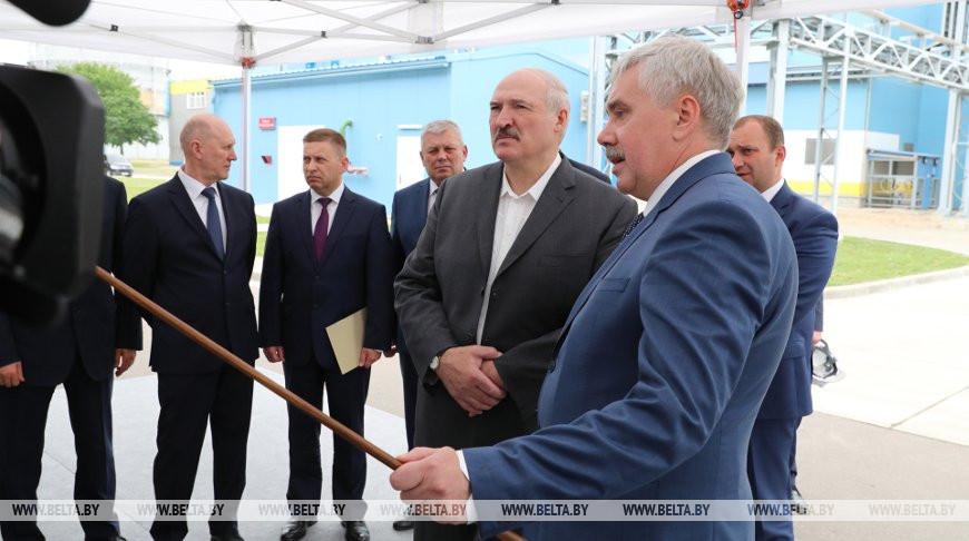 """Лукашенко посетил ОАО """"Гродно Азот"""""""