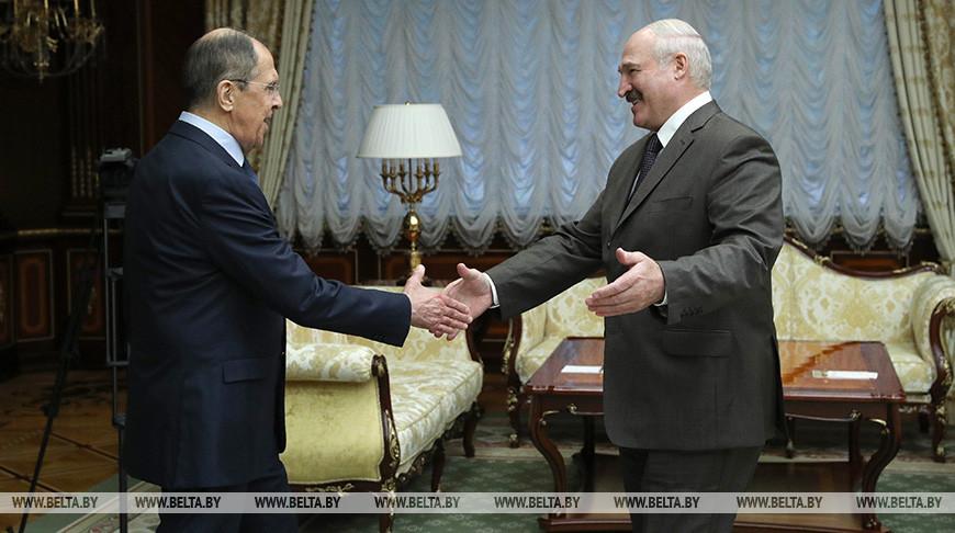 Лукашенко встретился с министром иностранных дел России Сергеем Лавровым