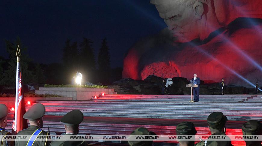 Лукашенко посетил мероприятие в Брестской крепости, посвященное Дню всенародной памяти жертв Великой Отечественной войны