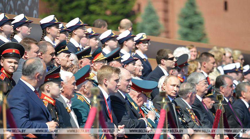 Лукашенко присутствовал на параде Победы на Красной площади в Москве