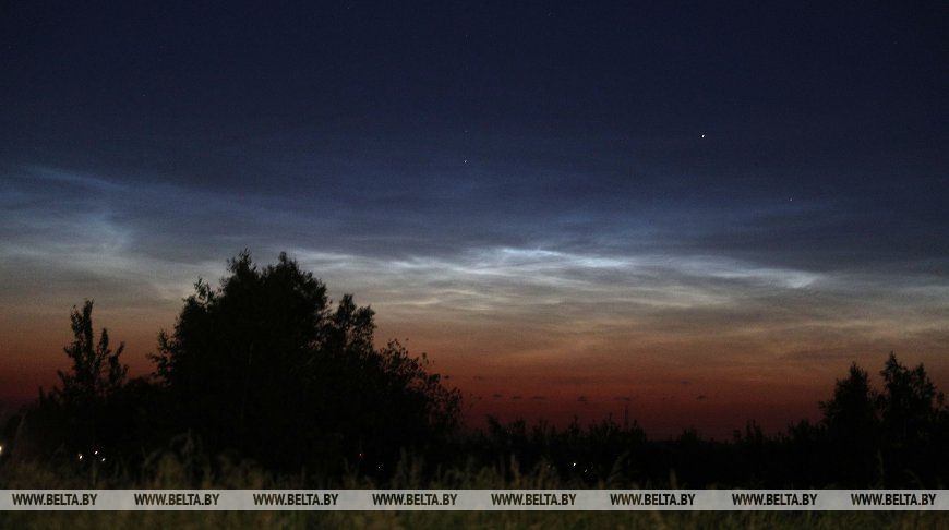 Серебристые облака над Гродно