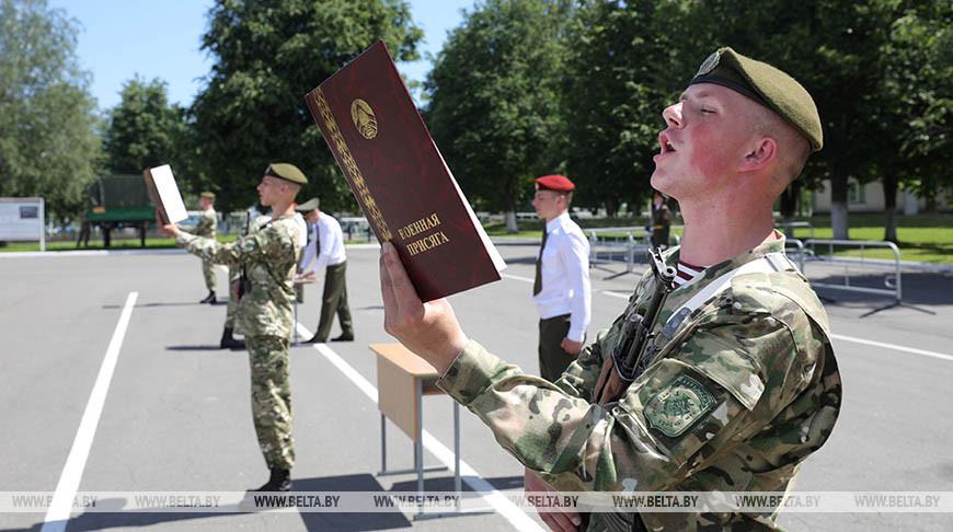 Около тысячи военнослужащих внутренних войск МВД приняли присягу