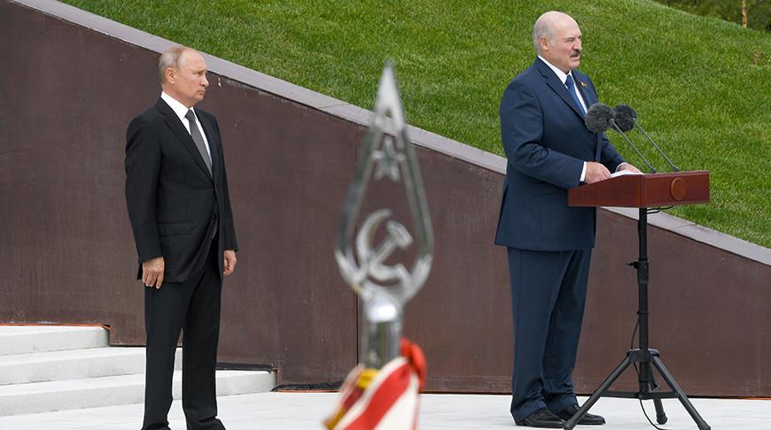 Лукашенко принял участие в открытии Ржевского мемориала советскому солдату