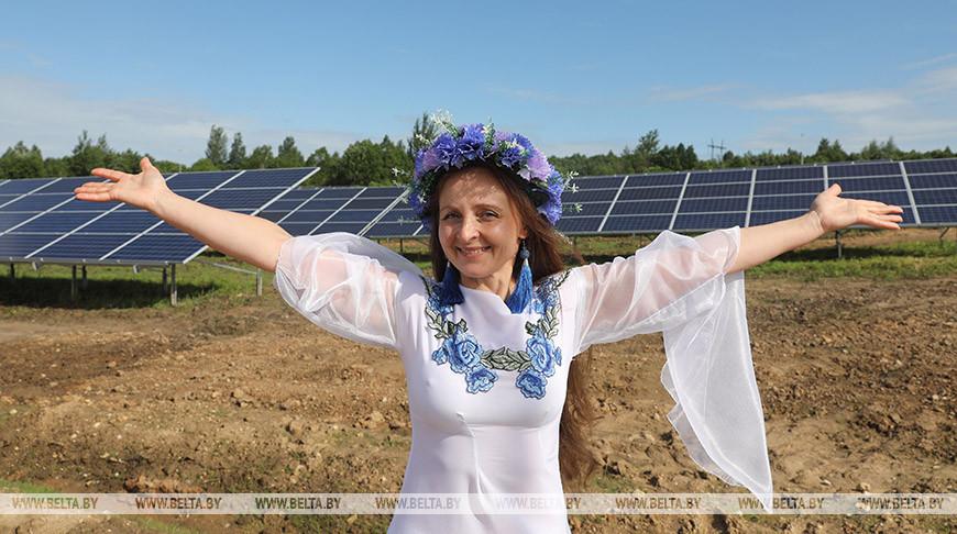 В Сенненском районе запустили энергоустановку из 4752 солнечных панелей