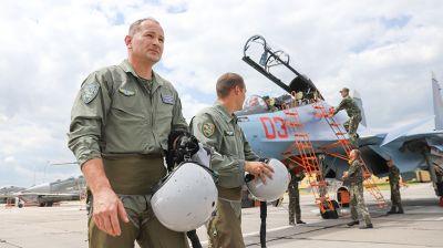 Истребители Су-30СМ заступили на боевое дежурство на авиабазе в Барановичах