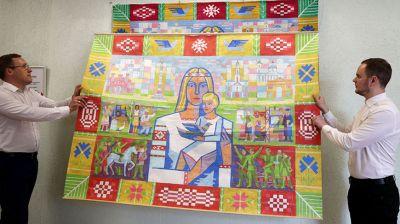 Масштабный гобелен с изображением матери Беларуси презентовали в Гродно