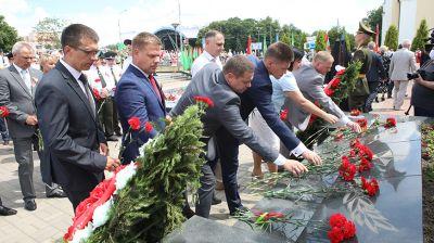 Митинг в честь Дня Независимости прошел в Гомеле на Аллее Героев