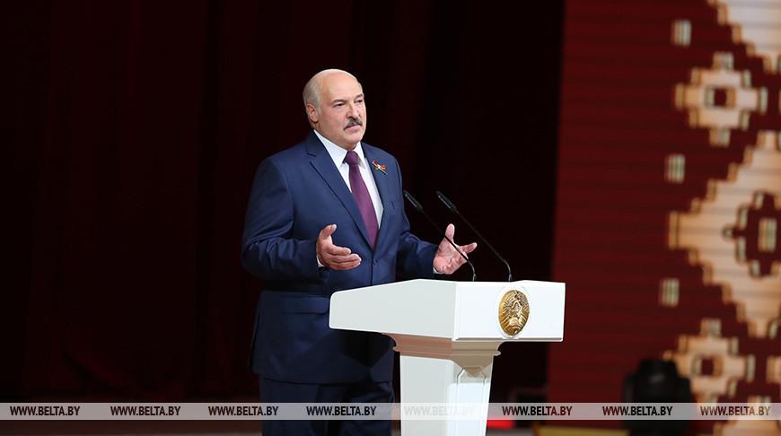 Лукашенко выступил на торжественном собрании, посвященном Дню Независимости