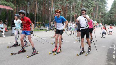 Лыжероллерная трасса открылась после реконструкции в Минске