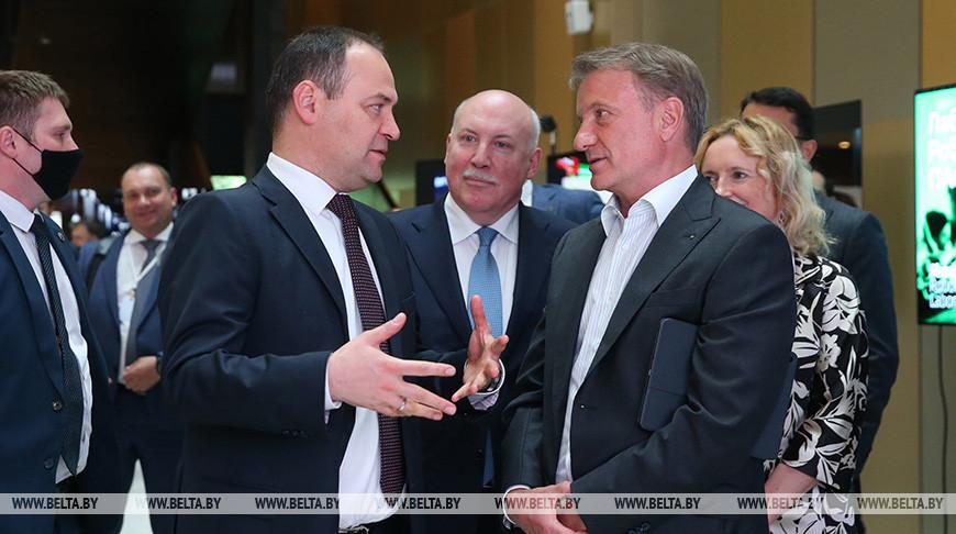 Головченко встретился с главой Сбербанка России Грефом
