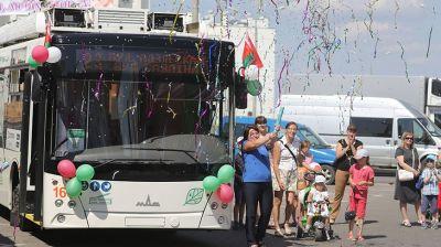 В Гродно запустили новый маршрут с бесконтактными троллейбусами