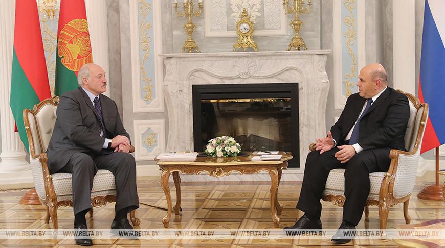 Лукашенко встретился с председателем правительства России Михаилом Мишустиным