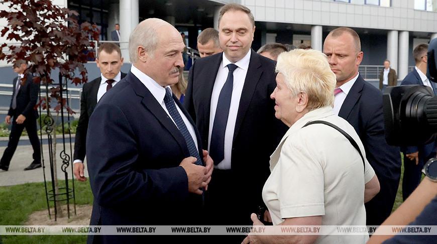 Лукашенко открыл центральную городскую поликлинику в Гомеле