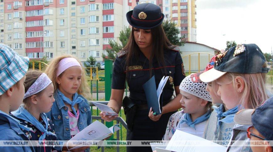 ГАИ, ОСВОД и ИДН провели акцию для минских школьников