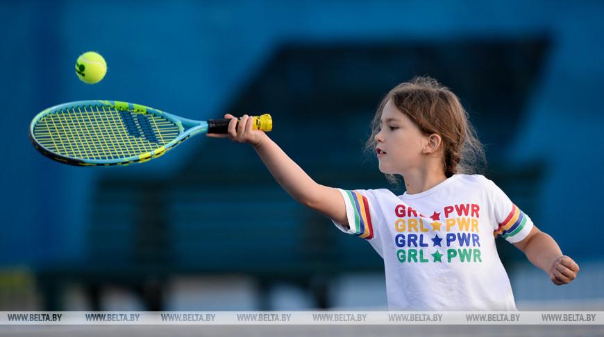 Александра Саснович провела мастер-класс для юных теннисистов