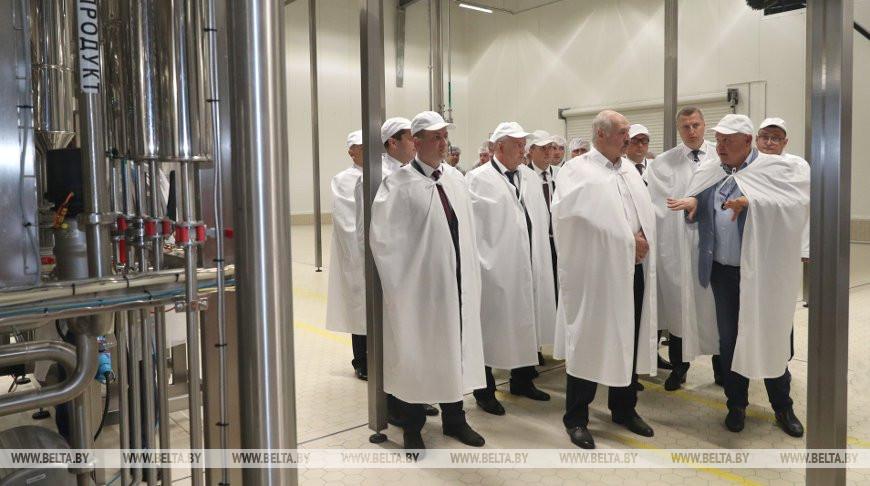 Лукашенко в Несвиже посетил современный завод по переработке молока