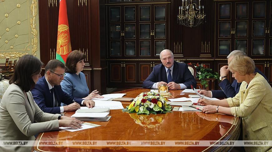 Подготовка президентского Послания обсуждена на рабочей встрече у Лукашенко