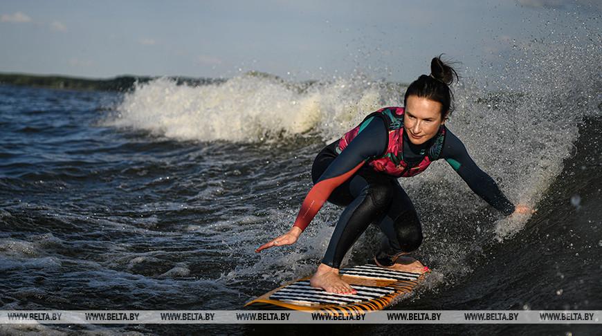 Минчане занимаются серфингом